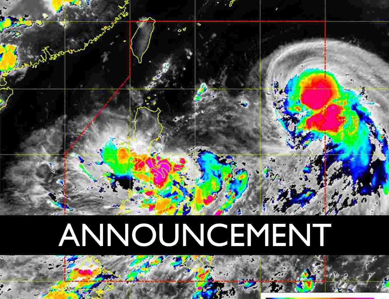 typhoon announcement