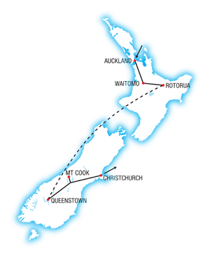 North and South New Zealand Highlights